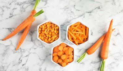 Techniken zum Schneiden von Gemüse