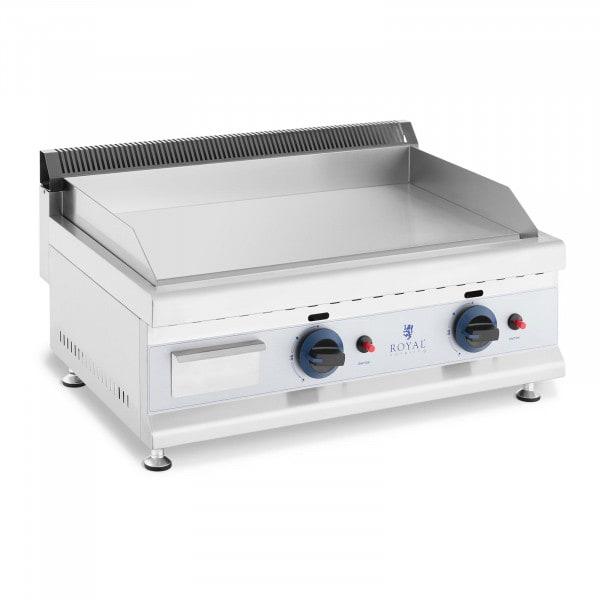 Podwójny grill gazowy - 60 x 40 cm - gładki - 2 x 3100 W - propan / butan - 0,02 bar