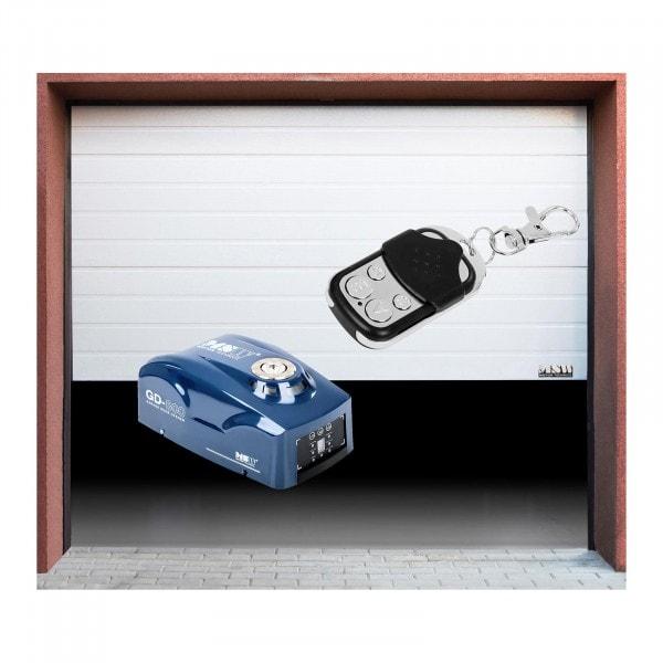 Zestaw Segmentowa brama garażowa - 2375 x 2125 mm - biała + Napęd - 800 N - pasek zębaty