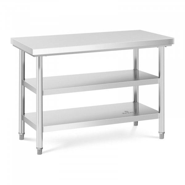 Stół roboczy - 3 poziomy - 120 x 60 cm - 600 kg - stal nierdzewna