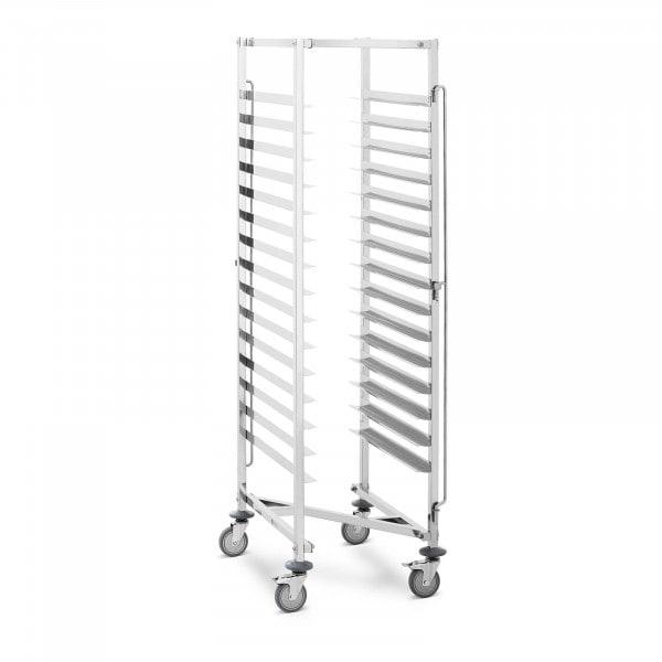 Wózek piekarniczy - 150 kg - 15 półek - 600 x 400 mm