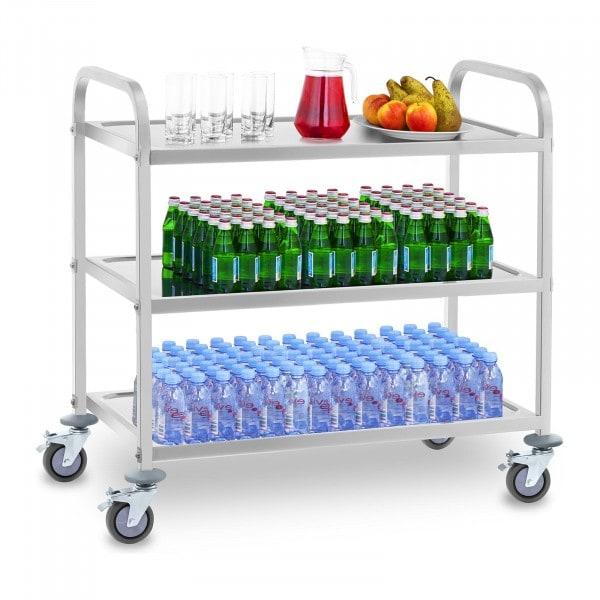 Wózek kelnerski - 3 półki - nośność statyczna 500 kg