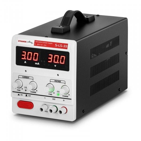 Zasilacz laboratoryjny - 0-30 V - 0-3 A DC - LED