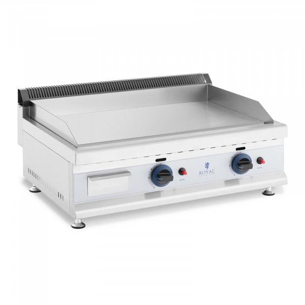 Podwójny grill gazowy - 74,5 x 40 cm - gładki - 2 x 3100 W - propan / butan - 0,02 bar