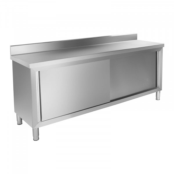 Stół roboczy z szafką - 200 x 60 cm - 160 kg - rant