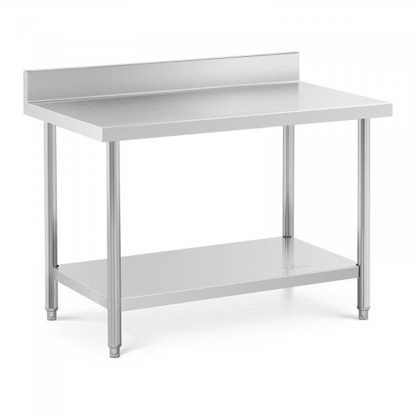 Stół roboczy - stal nierdzewna - 120 x 70 cm - 115 kg - rant