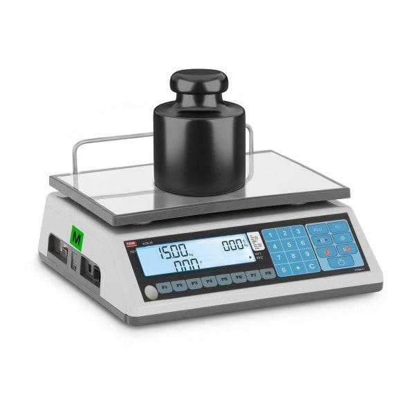 Waga sklepowa - 15 kg / 5 g - LCD - legalizacja