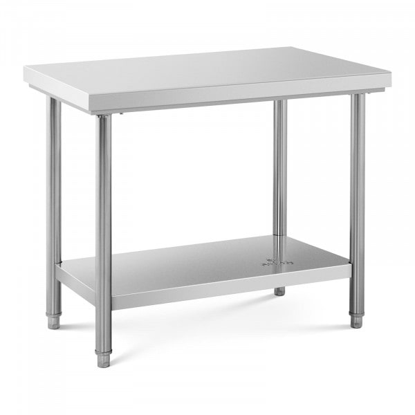 Stół roboczy - 100 x 60 cm - 90 kg - stal nierdzewna