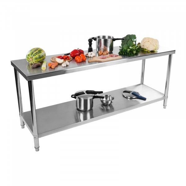 Stół roboczy ze stali nierdzewnej - 200 x 60 cm - 160 kg