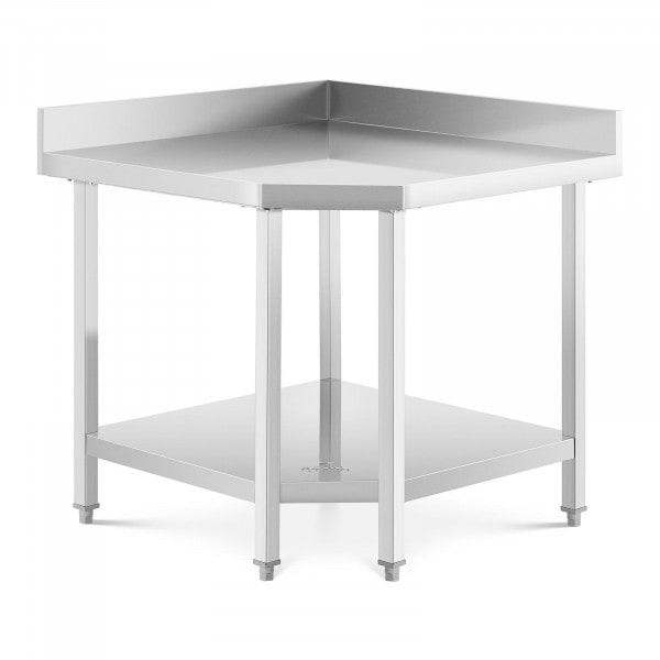 Stół roboczy narożny - 90 x 70 cm - stal nierdzewna