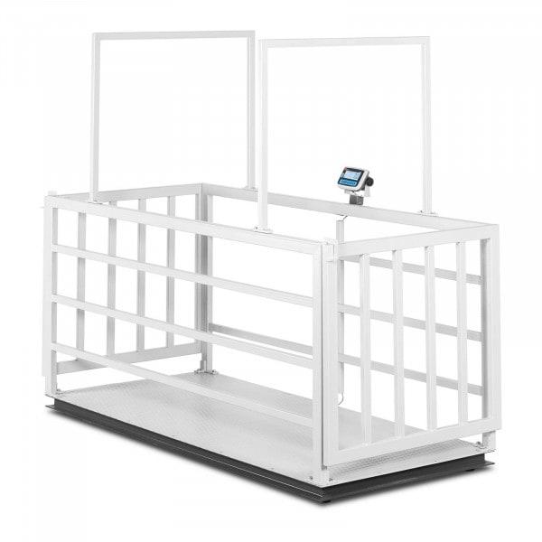 Waga inwentarska - skalibrowana - 3000 kg/1000 g - klatka dla zwierząt - LCD