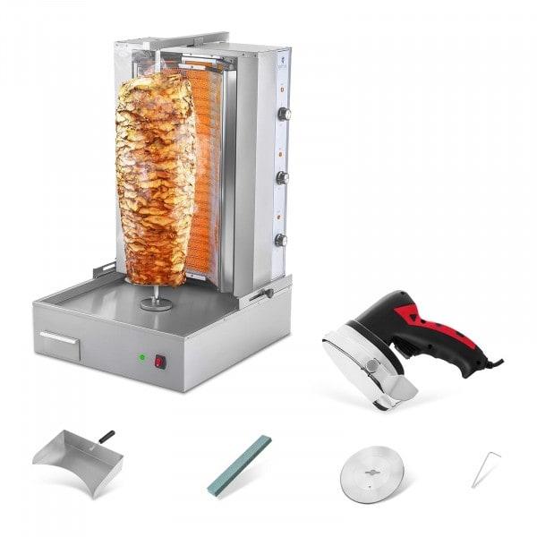 Zestaw Opiekacz do kebaba - 6000W + Nóż do kebaba - elektryczny