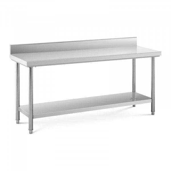 Stół roboczy - stal nierdzewna - 180 x 60 cm - 170 kg - rant