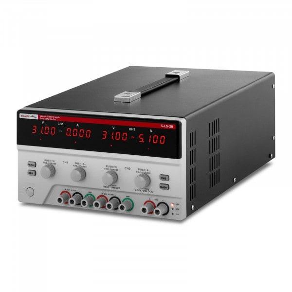 Zasilacz laboratoryjny - 2 x 0-30 V - 0-5 A DC - 4 x LED