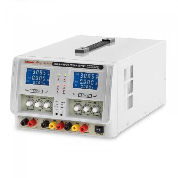 Zasilacz laboratoryjny - 2 x 0-30V - 0-5A DC - 2 x LED