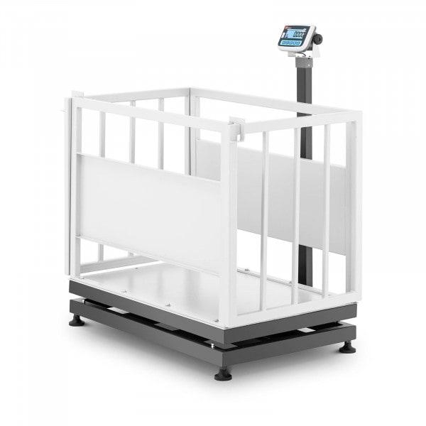 Waga inwentarska - skalibrowana - 500 kg/200 g - klatka dla zwierząt - LCD