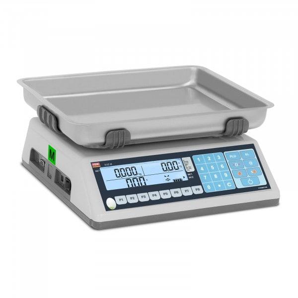 Waga sklepowa - 15 kg / 5 g - LCD - PLU - legalizacja