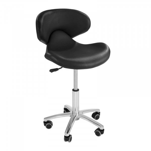 Krzesło kosmetyczne Physa Andria - czarne