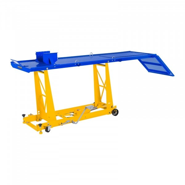 Podnośnik motocyklowy - 450 kg - 220 x 68 cm - najazd