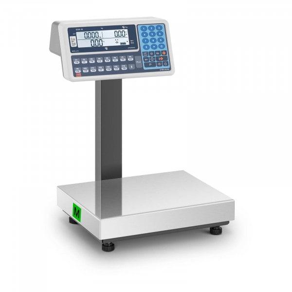 Waga sklepowa - 15 kg (5 g) / 30 kg (10 g) - LCD - legalizacja