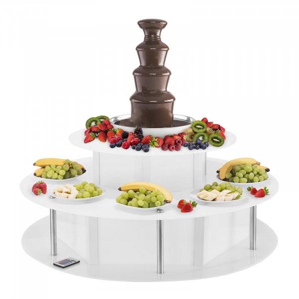 Zestaw Fontanna czekoladowa - 4 piętra - 6 kg + Podest - LED - 2 piętra