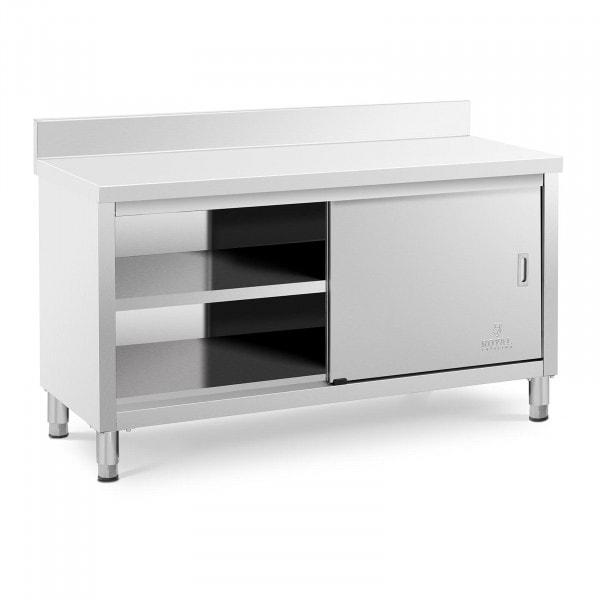 Stół roboczy z szafką - 150 x 60 cm - 600 kg - rant