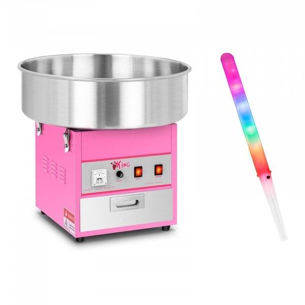 Zestaw Maszyna do waty cukrowej - 52 cm + Świecące pałeczki - LED - 50 szt.