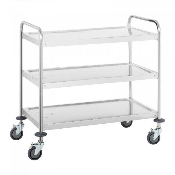 Wózek kelnerski - nośność statyczna 500 kg - 3 półki