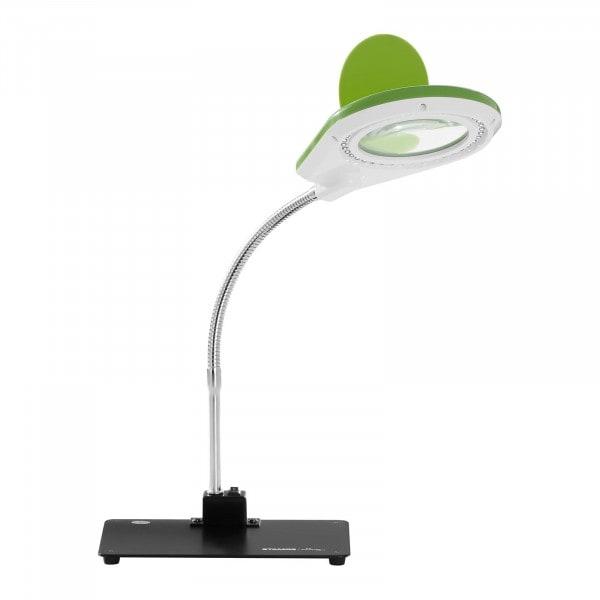Lampa z lupą - 5 / 10-krotne powiększenie - zielona