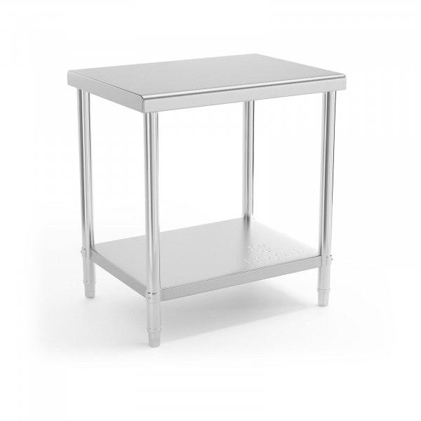 Stół roboczy - 80 x 60 cm - 190 kg - stal nierdzewna