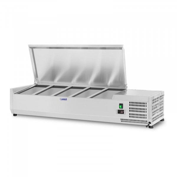 Nadstawa chłodnicza - 150 x 39 cm - 5 x GN 1/3 oraz 1 x GN 1/2