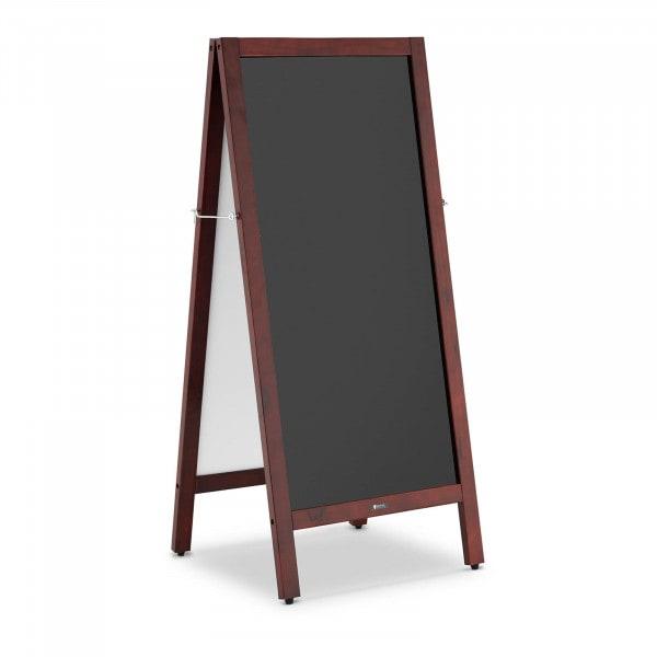 Potykacz reklamowy - 2 tablice, 45 x 90 cm - magnetyczne i z możliwością zapisu - czarne - dwustronne
