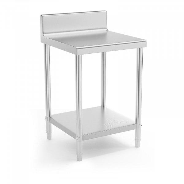 Stół roboczy - 60 x 60 cm - 150 kg - stal nierdzewna - rant