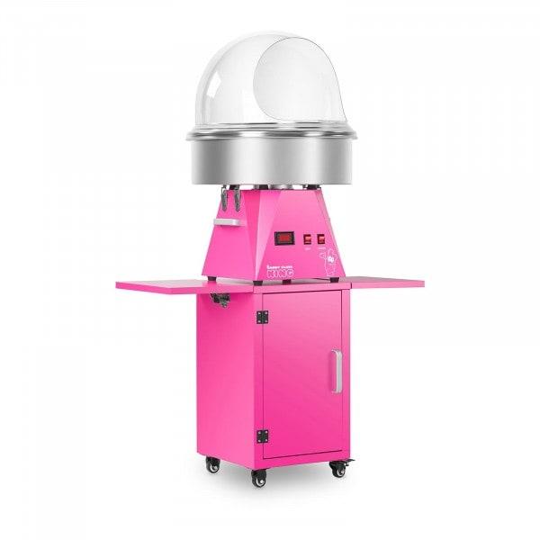 Zestaw Maszyna do waty cukrowej - 52 cm + Wózek - szafka + Pokrywa ochronna