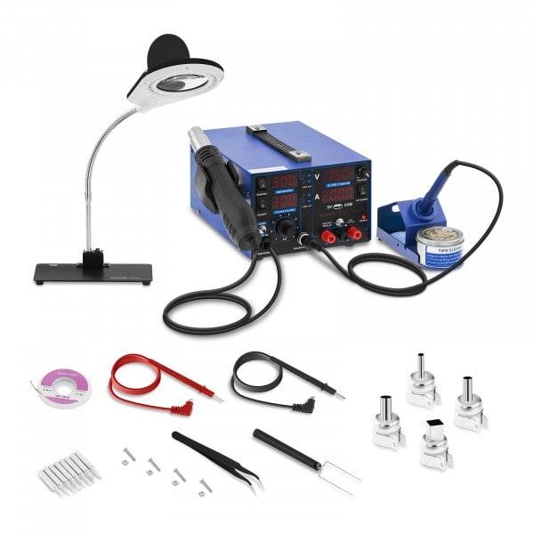 Stacja lutownicza - 3 w 1 - USB - lampa powiększająca