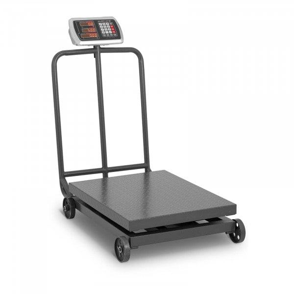 Waga platformowa - 600 kg / 100 g - kółka - LED