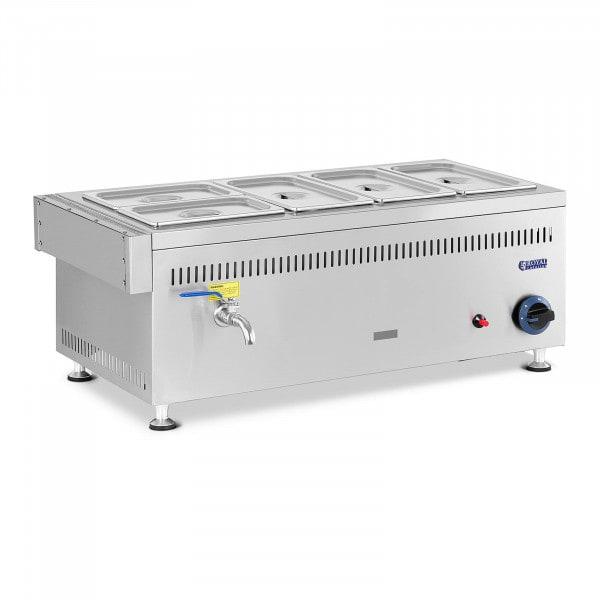 Bemar gazowy - 3300 W - 5 GN - 0,02 bar - G20