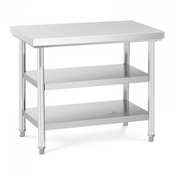 Stół roboczy - 3 poziomy - 100 x 60 cm - 600 kg - stal nierdzewna
