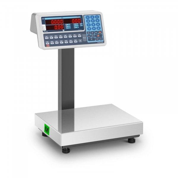 Waga sklepowa - 15 kg (5 g) / 30 kg (10 g) - LED - legalizacja