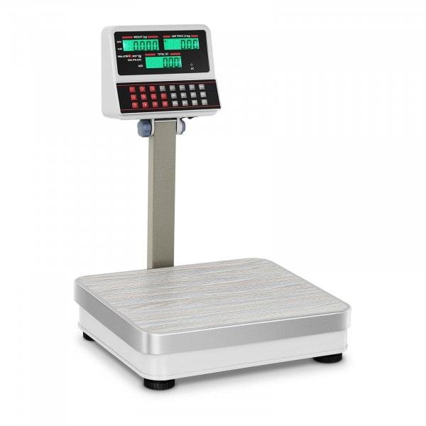 Waga sklepowa Steinberg Systems SBS-PW-100/10 100kg podziałka 10g biała LCD