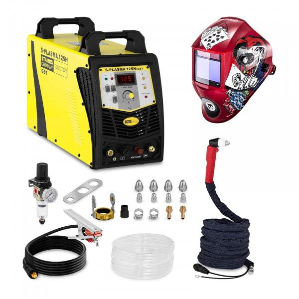 Przecinarka plazmowa - 125 A - 400 V - łuk pilotujący + Maska spawalnicza - Pokerface - Professional