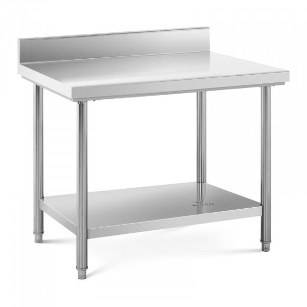 Stół roboczy - stal nierdzewna - 100 x 70 cm - 120 kg - rant
