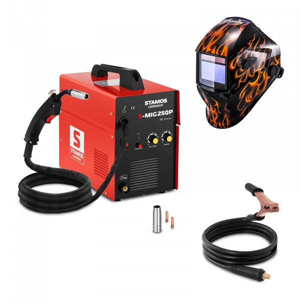 Spawarka MIG/MAG - 250 A - 230 V - przenośna - PLUS maska spawalnicza - Firestarter 500 - Advanced