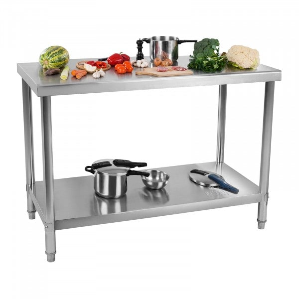 Stół roboczy ze stali nierdzewnej - 100 x 60 cm - 90 kg