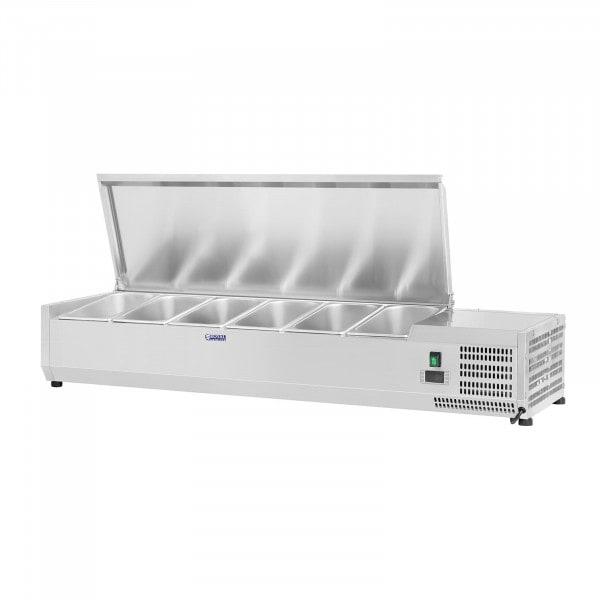 Nadstawa chłodnicza - 6 x GN 1/4 - 140 x 33 cm