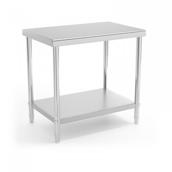 Stół roboczy - 90 x 60 cm - 210 kg - stal nierdzewna