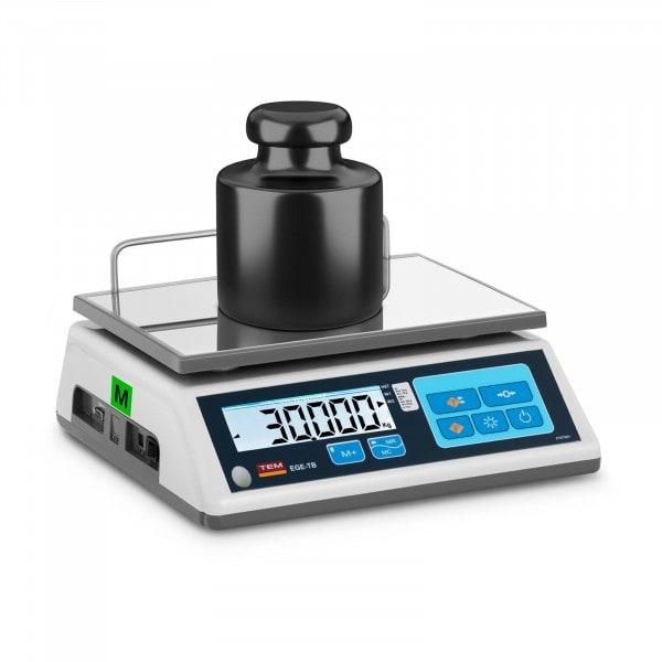 Waga sklepowa - 30 kg / 10 g - 23 x 30 cm - legalizacja