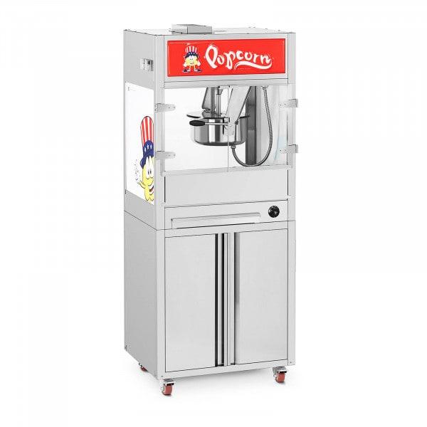 Maszyna do popcornu - z szafką dolną i kółkami - Royal Catering - średniej wielkości