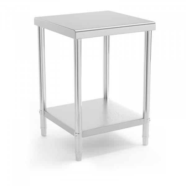 Stół roboczy - 60 x 60 cm - 150 kg - stal nierdzewna