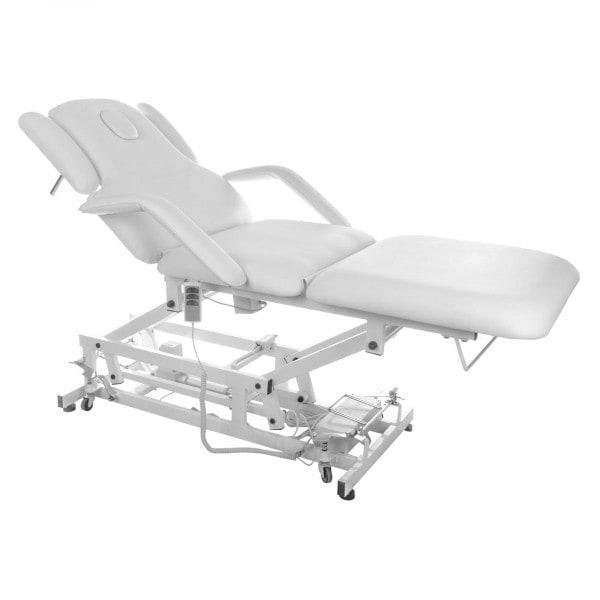 Biały stół do masażu Delirious - elektryczny